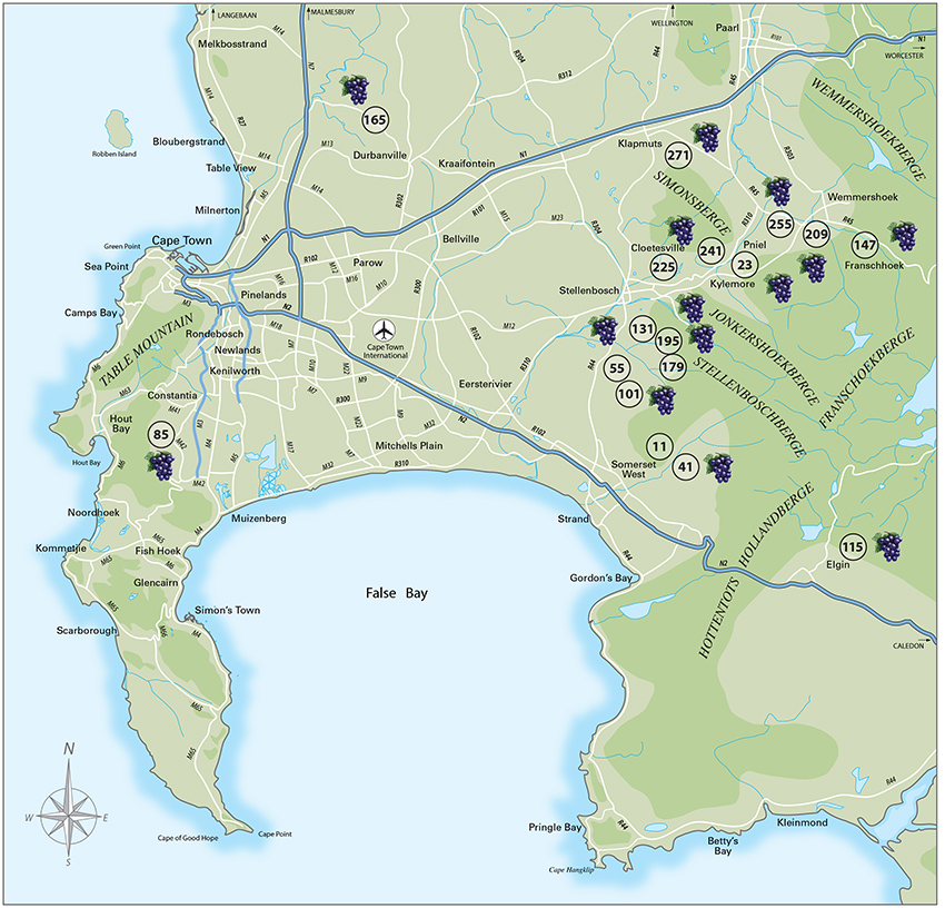 Wine Map of the Cape